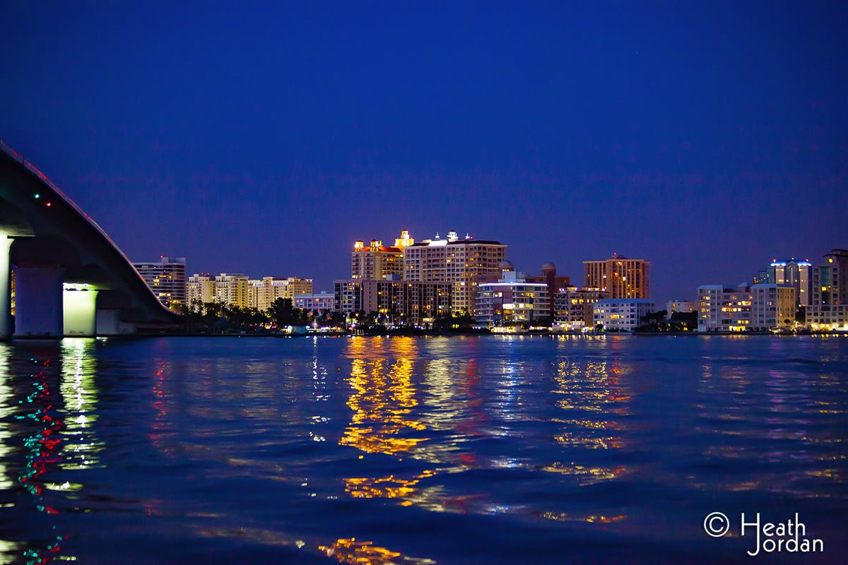 Sarasota Bay at Night